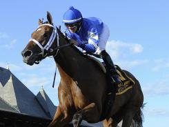Questing posted an impressive nine-length victory in the 132nd running of the $600,000 Alabama Stakes for 3-year-old fillies.