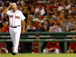 In keeping with his image, Red Sox manager Bobby Valentine, shown Aug. 4, has been quick to share his opinions.