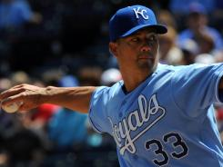 Kansas City pitcher Jeremy Guthrie had a no-hitter through 6 2/3 innings. The Royals swept the White Sox, but Guthrie settled for a no-decision.