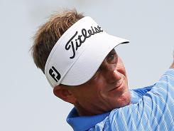 Willie Wood, shown here on Aug. 3, earned his first Champions Tour title at the Dick's Sporting Goods Open.