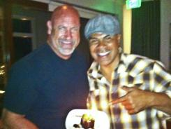 Junior Seau, right, celebrates the 50th birthday of his friend and former teammate, Mark Walczak, days before Seau's death.