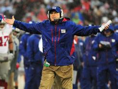 New York Giants head coach Tom Coughlin.