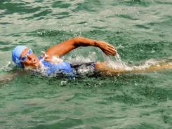 Diana Nyad was trying to be the first swimmer to cross the Florida Straits without a shark cage.