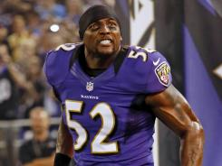 "Reason to celebrate: Linebacker Ray Lewis likes the direction the Ravens offense is taking: ""Are we excited about it? Absolutely."""