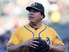 Oakland Athletics pitcher Bartolo Colon is the latest major league player to run afoul of baseball's drug policy, earning a 50-game suspension after testing positive for testosterone.