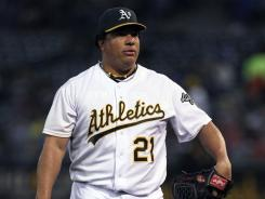 "A's pitcher Bartolo Colon did not appeal his suspension. ""I accept responsibility for my actions,"" he said."