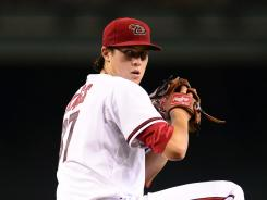 Tyler Skaggs allowed three hits through 6 2-3 innings in his major league debut.