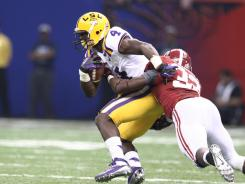 Blue, a junior from Boutte, led the Tigers in rushing for the second scrimmage in the last six days with 70 yards on six carries and two touchdowns in LSU's final scrimmage Tuesday night.