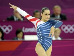 Jordyn Wieber competes in the women's floor exercise final during the London Olympics at North Greenwich Arena on Aug. 7.