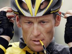 Lance Armstrong, shown here before the final stage of the 2009 Tour of California, declined to go to arbitration to dispute doping charges, triggering severe sanctions from the United States Anti-Doping Agency that include a lifetime ban from professional cycling and the loss of his seven consecutive Tour de France titles.