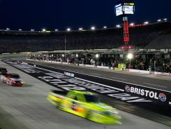 Bristol saw truck-racing action Wednesday night at its revamped speedway.