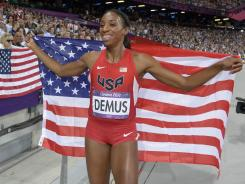 "Said silver-medalist Lashinda Demus: ""Athletes aren't having a war against the IOC. It's clear the Olympics are a profit-driven event and this should be an issue on the table that we talk about and find a solution for it."""""