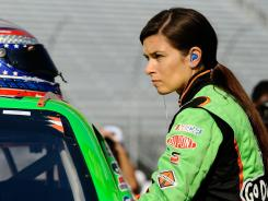 Danica Patrick prepares for Nationwide Series practice Friday at Bristol Motor Speedway.
