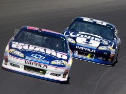 Hendrick Motorsports drivers Dale Earnhardt Jr. and Jimmie Johnson run out front during the Pure Michigan 400 last weekend.