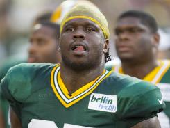 Defensive end Anthony Hargrove (95) is no longer with the Packers after being released Friday.