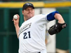Sugar Land Skeeters pitcher Roger Clemens returned to the mound Saturday at age 50.