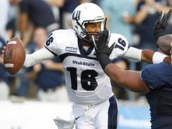 Utah State quarterback Chuckie Keeton, who suffered a neck injury and missed the final five games, is back for his sophomore season.
