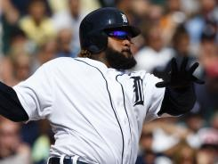 Prince Fielder belted a soaring two-run shot to right field for his 23rd homer this year.