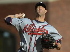 Braves starter Tim Hudson allowed five hits and one run Sunday against the Giants en route to his seventh consecutive win.