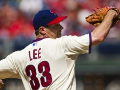 Phillies' Cliff Lee tossed seven sharp innings to earn his first home win in nearly a year.