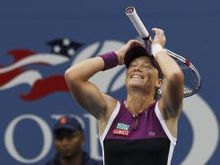 Samantha Stosur of Australia celebrates after winning the U.S. Open in 2011. This year has been a bit up and down.