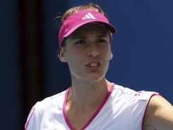 Andrea Petkovic of Germany spent a lot of time alone when she was rehabbing. She's happy to rekindle that competitive spirit.