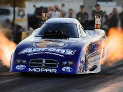 NHRA Funny Car driver Matt Hagan has one race remaining to qualify for a chance to defend his 2011 title.