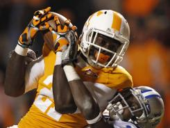 Former Tennessee wide receiver Da'Rick Rogers left the team after failing drug tests. He now plays for Tennessee Tech.