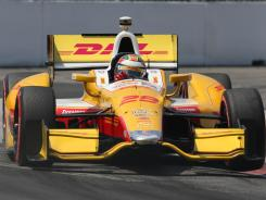 Ryan Hunter-Reay finished 18th Sunday in Sonoma, Calif., after getting hit by Alex Tagliani. Hunter-Reay was running third at the time.