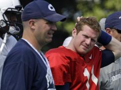 New coach Bill O'Brien, left, and quarterback Matt McGloin lead the Penn State football team into a new era Saturday against Ohio.