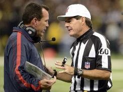 NFL head coaches like the Houston Texans' Gary Kubiak will have to cope with replacement officials for a while longer.