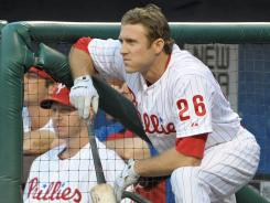 Phillies second baseman Chase Utley, shown Tuesday, is considering a move to third base.
