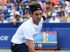 Roger Federer, reaching for a drop shot in the Western &amp; Southern Open semifinals Aug. 18, says he used to think of the tactic as a &quot;panic shot.&quot;