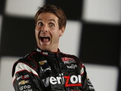 Will Power trends goofball during a photo shoot at USA TODAY on Wednesday. On the racetrack, he's on track for his first IndyCar championship.