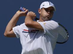 Andy Roddick won his opening-round match Tuesday at the U.S. Open.