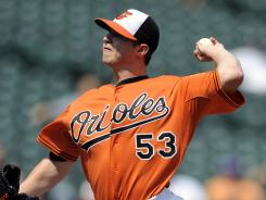 Orioles' Zach Britton eclipsed his previous single-game career high of seven strikeouts with 10.