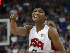 Angel McCoughtry, shown playing for the USA at the London Olympics, was suspended by the Atlanta Dream.