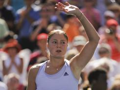 Dinara Safina, shown here at the U.S. Open in 2009, his been out of the game for a year because of debilitating injuries. She is enjoying her life in Moscow as a student.