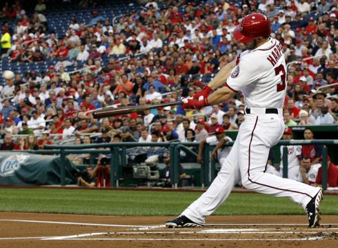 Galerry Bryce Harper homered with two outs in the first inning