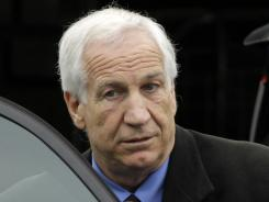 Jerry Sandusky is awaiting sentencing on 45 counts of child sexual abuse.