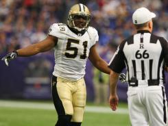 Saints MLB Jonathan Vilma faces a season-long suspension in connection with the team's alleged bounty program.