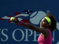 Serena Williams serves up a second-round victory against Maria Jose Martinez Sanchez of Spain on Thursday at the U.S. Open.