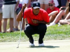 Tiger Woods has had some weekend troubles a few times this season, despite three victories.