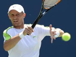 Nikolay Davydenko of Russia lost a five-setter Thursday to Mardy Fish of the USA after leading by two sets.