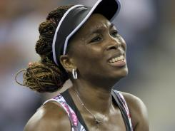 Venus Williams reacts during his loss to Germany's Angelique Kerber.