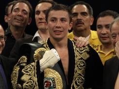 Gennady Golovkin, seen after a May fight, improved to 24-0 Saturday night.