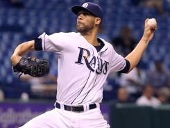 Rays ace David Price pitches in the fourth inning Sunday against the Royals. He won his AL-best 17th.