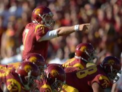 Senior quarterback Matt Barkley led No. 3 USC to a big win at the Los Angeles Coliseum.