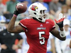 Teddy Bridgewater moved above .500 (6-5) as a starter in his second season at Louisville.