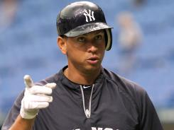 Yankees third baseman Alex Rodriguez has been out since breaking his left hand July 24.